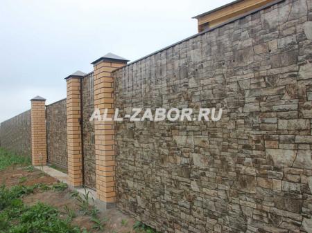 Забор из профнастила с покрытием White Stone профиль С-10
